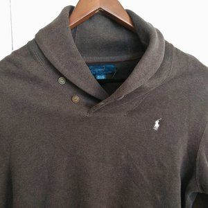 Polo Ralph Lauren Shawl-Neck Elbow Patch Sweater